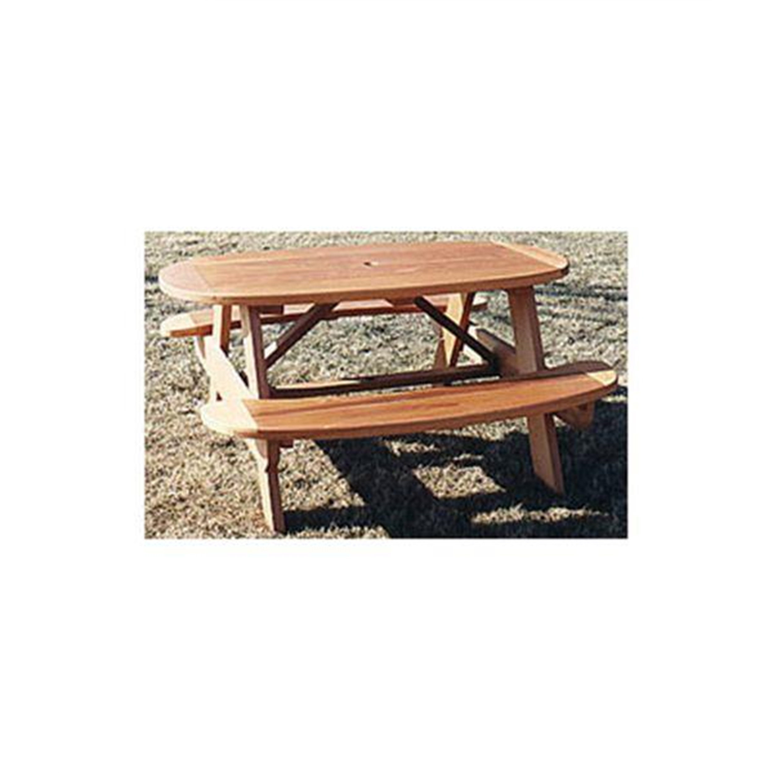 Woodworking Project Paper Plan to Build Oval Picnic Table