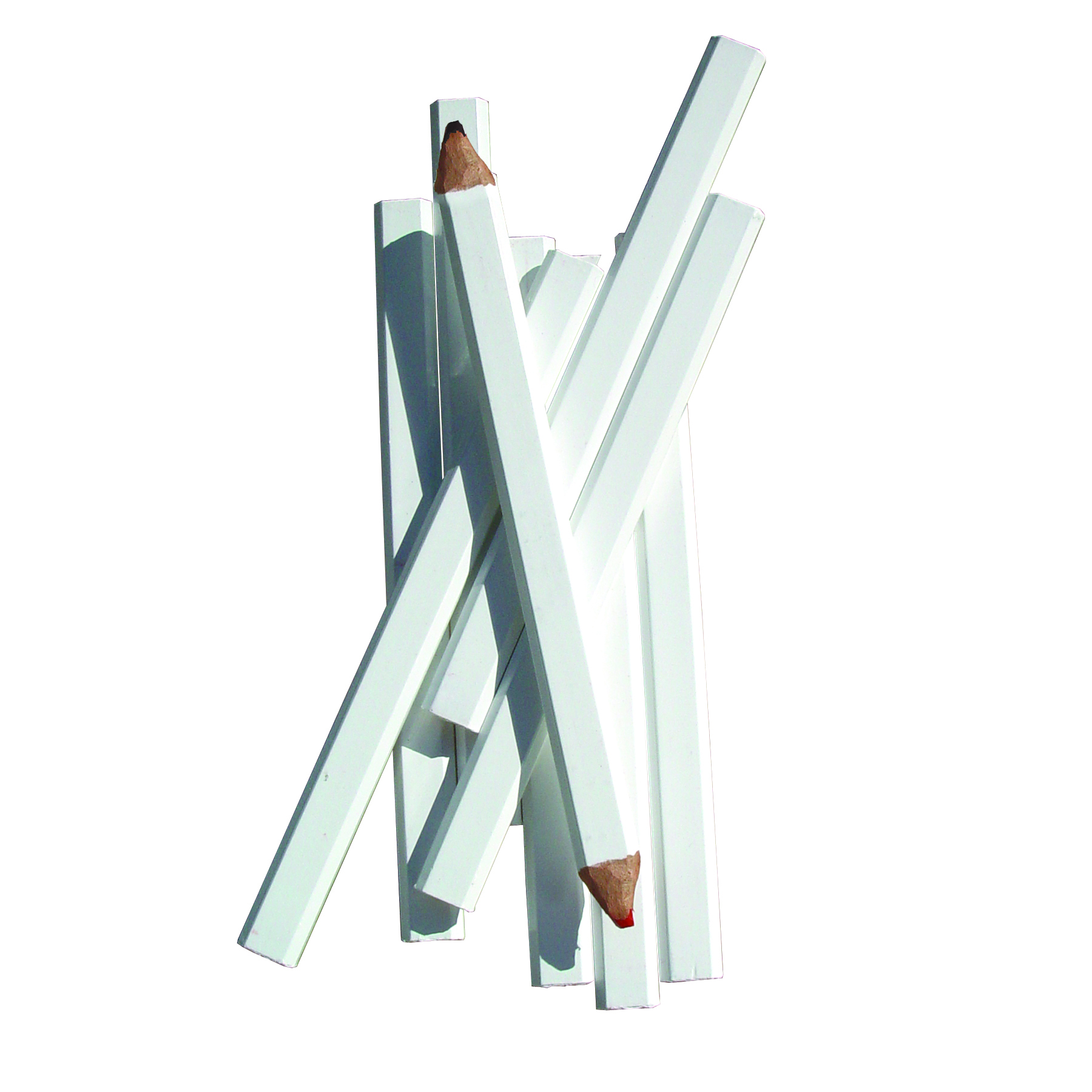 Carpenter Pencil White Casing Red/Black Lead Pack of 12
