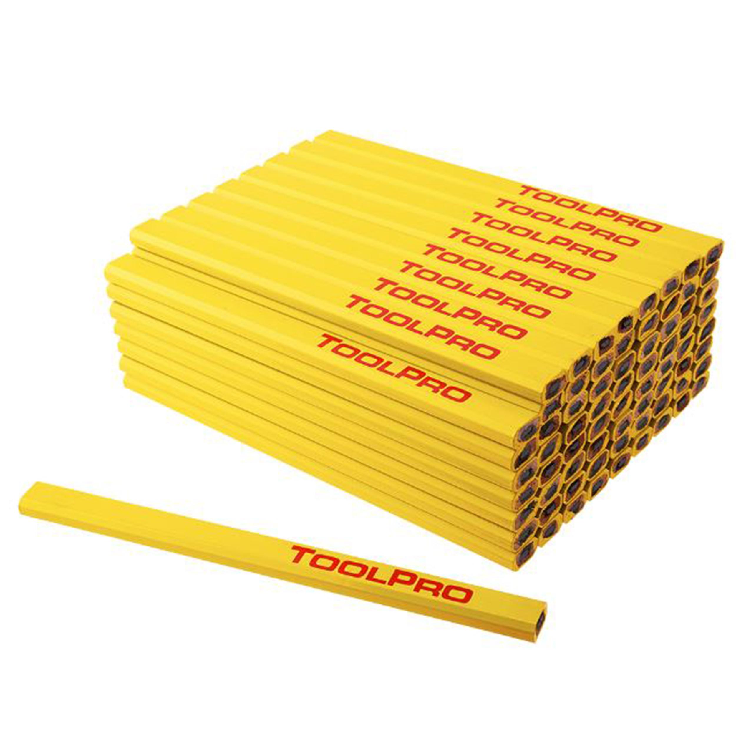 Carpenters' Pencils, Flat, Medium Lead, Pack of 72